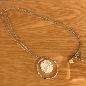 Towne & Reese mixed metal pendant necklace